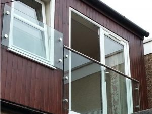 fransk balkong glass punktfester
